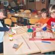 Thema 3: Handwerk - Verschiedene Dicken und Muster entstehen.