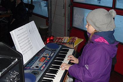 Auftritt beim Nikolausfest der Feuerwehr Frankenthal 2010