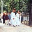 Schuleingang 2003 - Es geht zum Festgottesdienst
