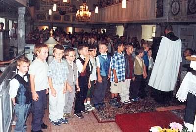 Schuleingang 2003 - Einsegnung der Schulanfänger