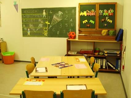 Start des Schuljahres im Container, August 2008