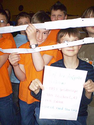 Die längste Rechenaufgabe der Ev. Grundschule Frankenthal